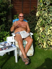 Summer and the Living is Easy (pj's memories) Tags: sunglasses garden sandals lincolnshire sunbathing speedos sunlounger dailytelegraph nettleham tanthru kiniki