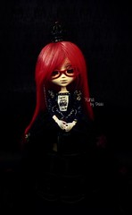 Yuna [Grell] (Dekki) Tags: red fashion dark asian outfit doll can queen cancan pullip lunatic yuna grell jseries rewigged kuroshitsuji lunaticqueen