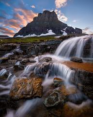 Going, Going, Gone (Michael Bollino) Tags: sunset summer mountain mountains creek nationalpark montana glacier cascade