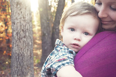 Sweetness (kristen stokes photography) Tags: sunlight cute love beautiful eyes mother adorable son shy