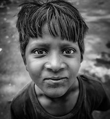 Homeless Boy! (Prasenna (Prazy)) Tags: street boy portrait blackandwhite bw india white black smile nikon south homeless poor chennai cwc d90
