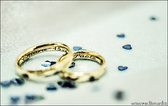 Us. (cuoredimenta) Tags: wedding love hearts gold bokeh fedi rings cuori amore matrimonio oro anelli