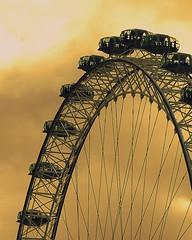 Millenium Wheel (ByronFoto) Tags: sunset london wheel southbank