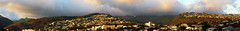 Panorama at sunset off the lanai (Guy: Jussum Guy) Tags: sunset panorama mountains landscape hawaii oahu hills honolulu palolovalley kaimuki stlouisheights wilhelminarise panasonicdmczs3