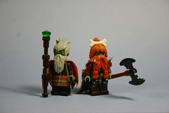 Hill Trolls: Elders (tin) Tags: lego fig barf fantasy troll minifig minifigs weapons trolls atin minfigure