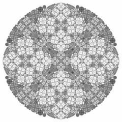 Fractal Tartan (fdecomite) Tags: circle geometry packing chain math gasket steiner imagej tangency apollonian apollonius porism