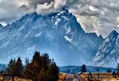 Majesty (Aspenbreeze) Tags: road mountains cars rain rainyday wyoming peaks tetons grandtetonnationalpark mountainpeaks tetonmountains aspenbreeze topphotospots tpslandscape gpsetest bevzuerlein