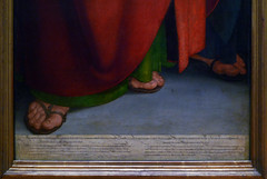 Dürer, The Four Apostles, right panel text