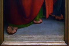 Dürer, The Four Apostles, right panel text