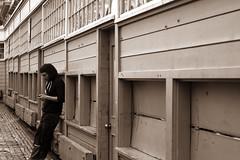 Pike Place lean (DoctorWatson) Tags: seattle white black vegetables fruit scarf balloons asian singing chinesefood clown blueeyes banjo bikes violin redhat takeout happycouple oldlady pikeplacemarket pikeplace leaning jams strumming lookingback greatsmiles gumwall evillook balloonhat prettysmile chinesetakeout lookback takemypicture strummingguitar seattlemarket bluesplayer leaningagainstwall playingviolin famousgumwall guitarstrumming seattlegum jelliesjellyforsale