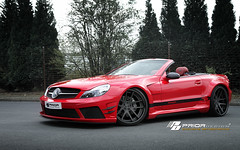 red black mercedes benz design sl edition amg widebody prior blackedition priordesign mercedesslwidebody priordesignnorthamericacom priordesigncom