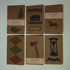 Little journals for Bazaar Bizarre this weekend! (FrancesMarin) Tags: horse fern diamonds square illustrations squareformat linocut blockprint trailer camper hatchet sketchbooks journals hourglass blockprinting blockprinted linoleumblockprint iphoneography instagramapp uploaded:by=instagram