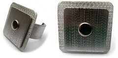 Angeles Flor superposition ring (Ans Designs) Tags: textilejewellery angelesflor aluminiumjewellery ansdesigns
