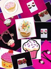 Cute cupcake jewelry (Beinspiredaccessories) Tags: cute sweet handmade inspired jewelry eat inspire lightpink handcraftedjewelry hotpick jewelrypictures handmadeclaydesigns