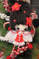 Poinsetiawings (Ana Camamiel) Tags: adorno angel navidad doll handmade felt ornament chritsmas mueca fieltro poinsetia