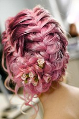 image (DanielleDAZE) Tags: flowers braids curlyhair updo braidedhair braidedupdo
