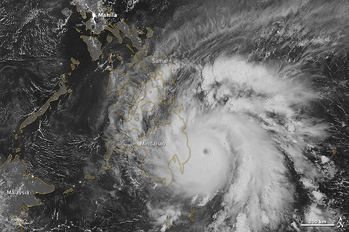 Typhoon Bopha Makes Landfall