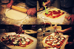 dad's pizza. (kvdl) Tags: november dad pizza homemade goatcheese rollingpin homemadepizza kvdl