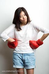 yee kei_3308e1 (yewkwangphoto) Tags: red female studio asian whitebackground casual stockphoto boxinggloves asianmodel singaporemodel singaporefreelancemodel yeekei