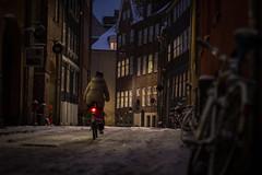 Snow Covered Copenhagen (virtualwayfarer) Tags: christmas travel winter light snow color bike bicycle copenhagen denmark cozy holidays snowstorm streetscene dk biking romantic charming scandinavia oldstreet kobenhavn lifeabroad expatlife alexberger virtualwayfarer