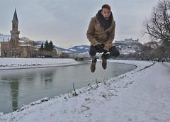 Patrick flies again! (troutwerks) Tags: schnee snow cold salzburg austria patrick kalt weinachtsmarkts withpatmeister