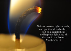 Let There Be Light - On A Candlestick, Not Under A Bushel [Explored] (zendt66) Tags: light nikon candle quote matthew flame be there bible let wick 515 d90 52weeks2012 zendt66
