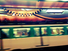 Metro at Arts e Metiers station. (sarahlane) Tags: chameleon uploaded:by=flickrmobile flickriosapp:filter=chameleon