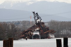 Seaspan King Dumping The Log Barge Seaspan Phoenix (rog45) Tags: canada canon bc 7d tugboat tug tugs 18200 barge fraserriver rog45 seaspanking seaspanphoenix sx220hs
