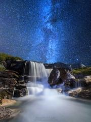 Fresh Milk (hauken87) Tags: longexposure nature norway stars norge waterfall stream nightscape galaxy milkyway sunndal
