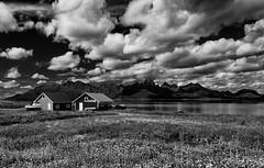 Cottages (g_heyde) Tags: cottage clouds wolken htte meadow norway langya vesterlen flowers sl