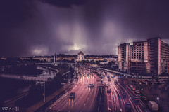 stormy whether over Kaunas (salas-3) Tags: whether rain storm stormy city scape cityscape landscape building street streetphotography nikon cars dark dramatic light kaunas lithuania lietuva