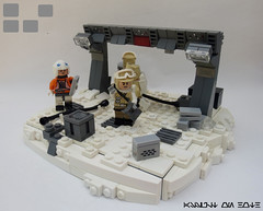 Not a drill... (JAlexanderHutchins) Tags: snow cold rock soldier rebel lego echo pokemon crate base hoth