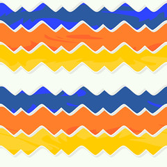 Colorful SVG Background (Repeats Seamlessly) (VasiliHartikainen) Tags: blue orange white yellow tile design colorful waves background web website vector svg seamless repeating