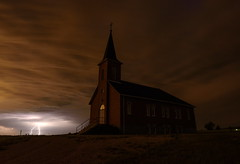 The Haunted (TigerPal) Tags: church storm lightning thunder cloud saskatchewan sask edenwold stjohnslutheran weather stormchasing longexposure night darkness haunted haunting dustyroad gravelroad abandoned forgotten silhouette silhouettephotography