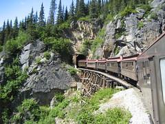 2006 Alaskan train ride (sharon3960) Tags: train alaska 2006 trees railroad track mountain rocky outdoor