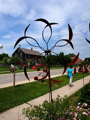 P6080777 (photos-by-sherm) Tags: good quilts retail garden flowers sculpture yard accessories amana iowa summer decorations metal