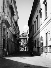 Sun and shadow (ste.piccoli) Tags: milan summer bw buildings