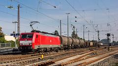 DB 189 065 on EZ 45715 at Dsseldorf Rath (37001 overseas) Tags: db dbschenker dbcargo ez45715 45715 class189 189065 1890656 kijfhoek gremberg