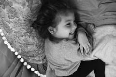 Spontaneous smile. (bonjoursamy) Tags: smile spontaneous bw backandwhite blancoynegro bokeh bokeheffect lights monochrome monochrom monocromo lovely beauty beautiful gorgeous vsco vscofilm ph canon lightroom