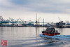 On the way (*PhotoByJohn*) Tags: 5d 5dmkii california losangeles other sanpedro canon5dmkii cranes harbor losangelesharbor ocean photobyjohn pilotboat port portoflosangeles portpilot portpilotboat red water