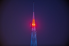 IMG_6561 City Watch Tower (Sakuto) Tags: tower sky blue colors purpure magneta yellow orange red camera ccd shape construction light colorful mtp poznan poland sharp city watch invigilation