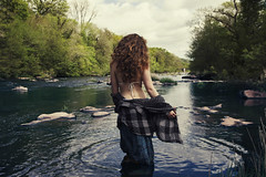 What The Water Gave Me (GARETHRHYS.COM) Tags: garethrhys harrietwhitehead anonymous girl portrait landscape nature river water trees ripple ripples canon natural light summer spring sunloight soft beauty ethereal whimsical beautiful wales southwales brecon llangynidr