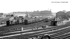 c.1963 - Hull, East Yorkshire. (53A Models) Tags: britishrailways lner gresley v3 262t 67684 steam cravens class105 dmu class37 coaldrops hull paragon eastyorkshire train railway locomotive railroad