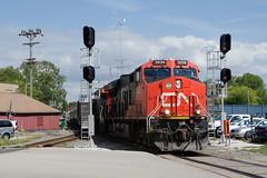 CN3036WaukeshaWI9-15-16 (railohio) Tags: cn trains waukesha wisconsin d7000 091516 signals et44ac canadiannational