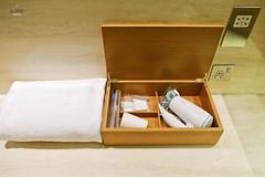 Bath amenities box (A. Wee) Tags: cathaypacific  thebridge  lounge hongkong hkg    china bathroom amenity
