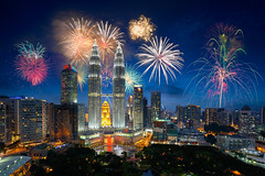 Kuala lumpur skyline (Krunja) Tags: anniversary asia beautiful building capital celebration center centre christmas city cityscape colorful day event explosion festival fireworks kl klcc kuala landmark landscape lumpur malaysia modern national new night park party scene shopping show skyline skyscraper tower twin urban view xmas year kualalumpur wilayahpersekutuankualalumpur my