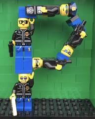 P (Laurene J.) Tags: lego bricksbythebay bbtb2016 minifigurealphabet minifigure minifigs legoalphabet alphabet pilobolusalphabet pilobolus lettering bbtb 2016 bricksofcharacter police p