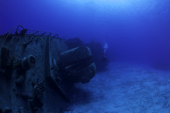 tibbetts on its side (b.campbell65) Tags: beautiful big blue caribbean caymanbrac coral dive diver diving island marine nature ocean reef scuba sea seascape swim swimming tibbets travel tropical underwater water wildlife wreck