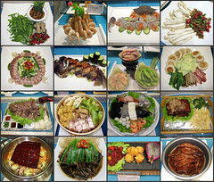 Dinner Time ... (Best 'zoomed' to view dish details) (Mary Faith.) Tags: seafood buffet collage china shanghai restaurant feast gourmet
