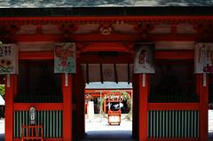 Sumiyoshi Shrine Gate 1 (pokoroto) Tags: sumiyoshi shrine gate fukuoka   kyushu  japan 8   hachigatsu hazuki leafmonth 2016 28 summer august